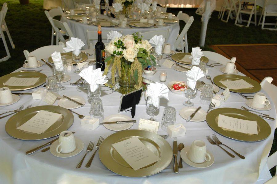 Tablescape at wedding reception