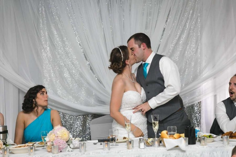 A kiss at the head table- Stadium View