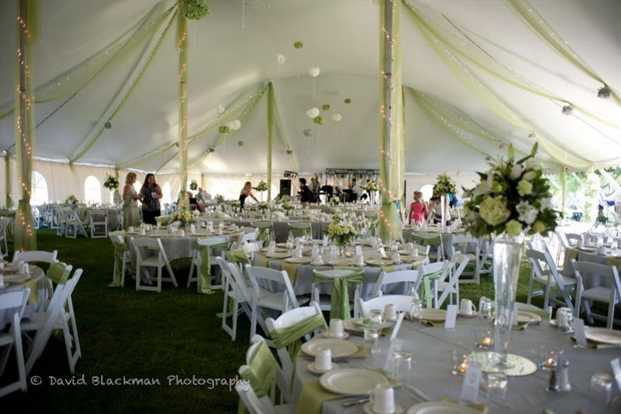 A tented wedding at Sturgeon Bay's Lodge at Leathem Smith