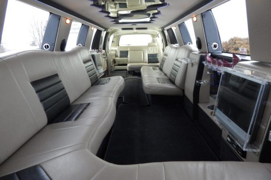 Interior of an Excursion from Heritage Limousine