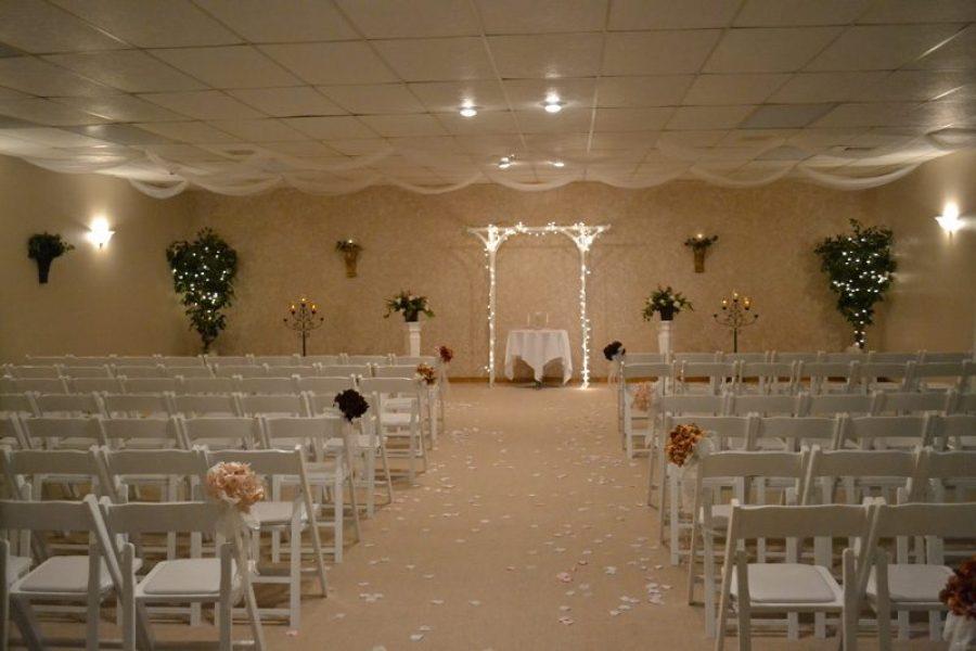 Indoor Wedding Ceremony- Fox Hills Resort