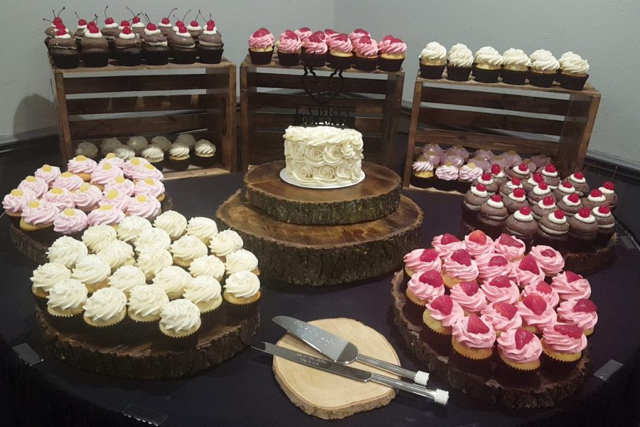 Mini cake and cupcakes by Cupcake Couture