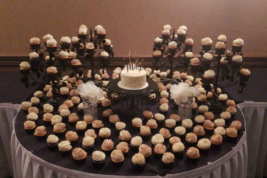 Beautiful cupcake display by Cupcake Couture