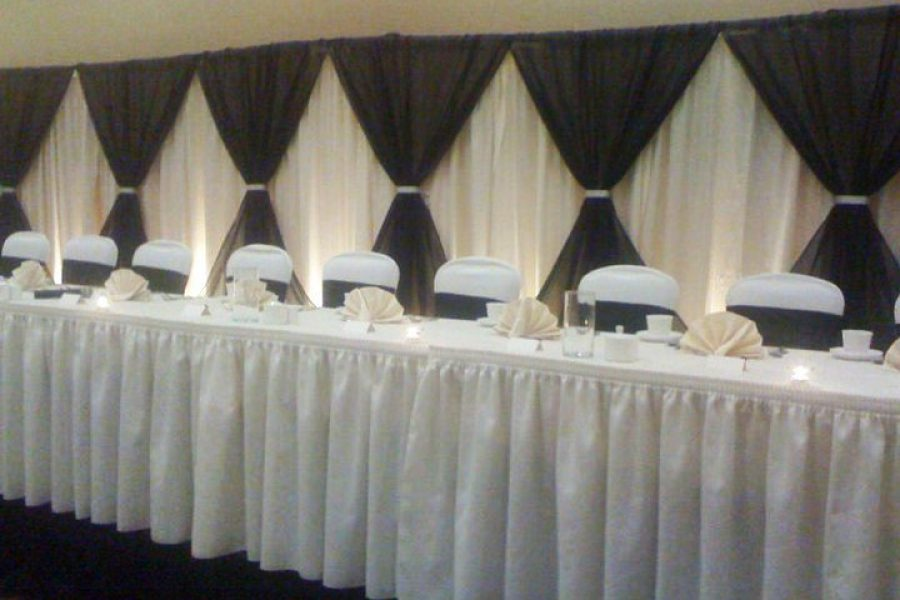Head table at the Holiday Inn Stevens Point, WI