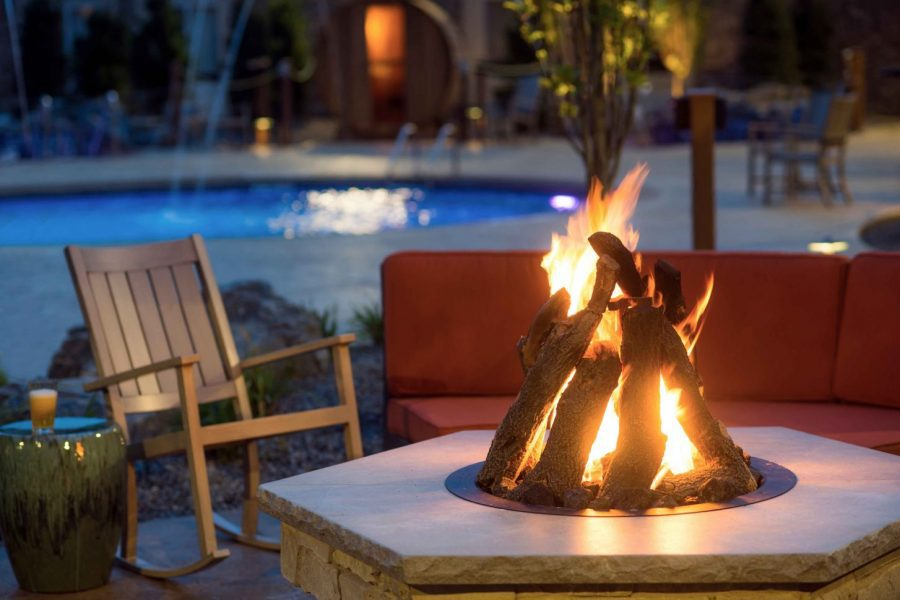 Fire Pit area at the Hotel Marshfield
