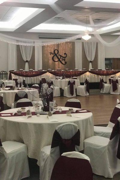 Wedding decor by I Do Decorating Service
