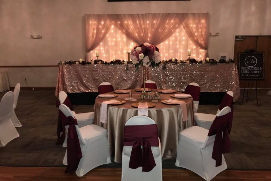 Wedding rentals and decor
