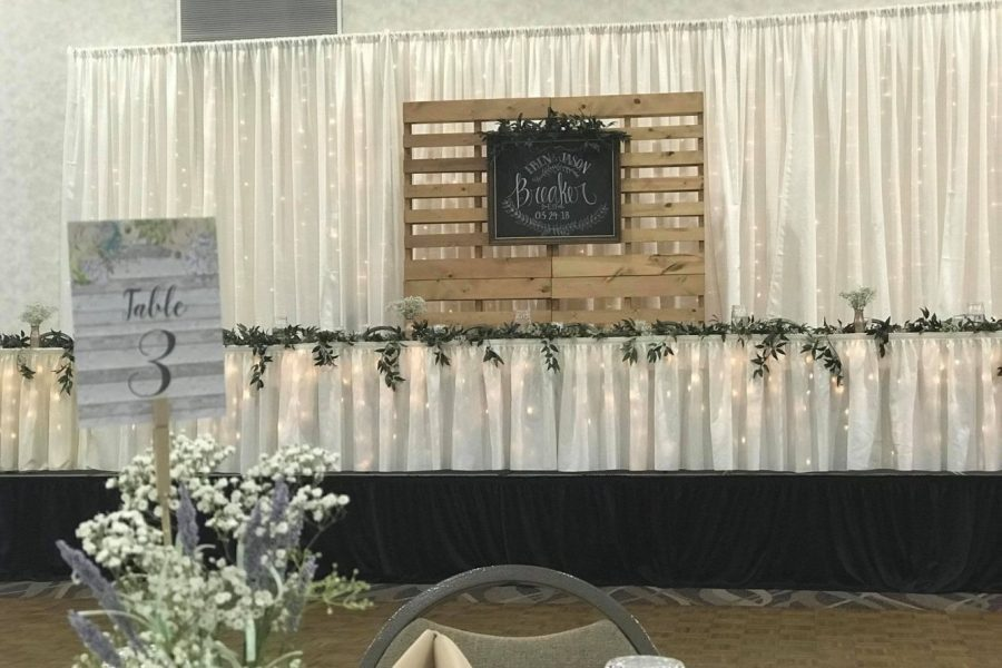 Head Table design by I Do Decorating & Rental Service