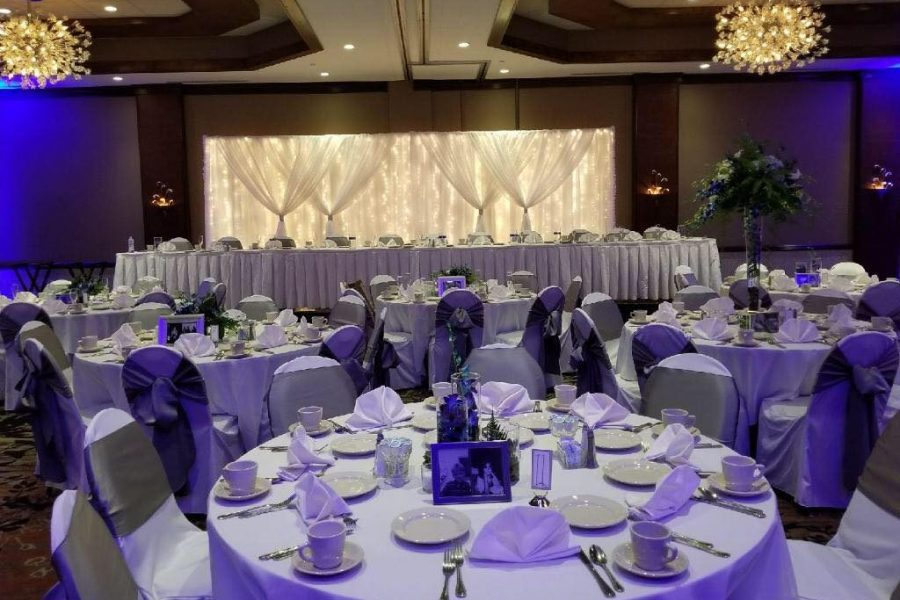 Elegant wedding decor by I Do Decorating & Rental Service