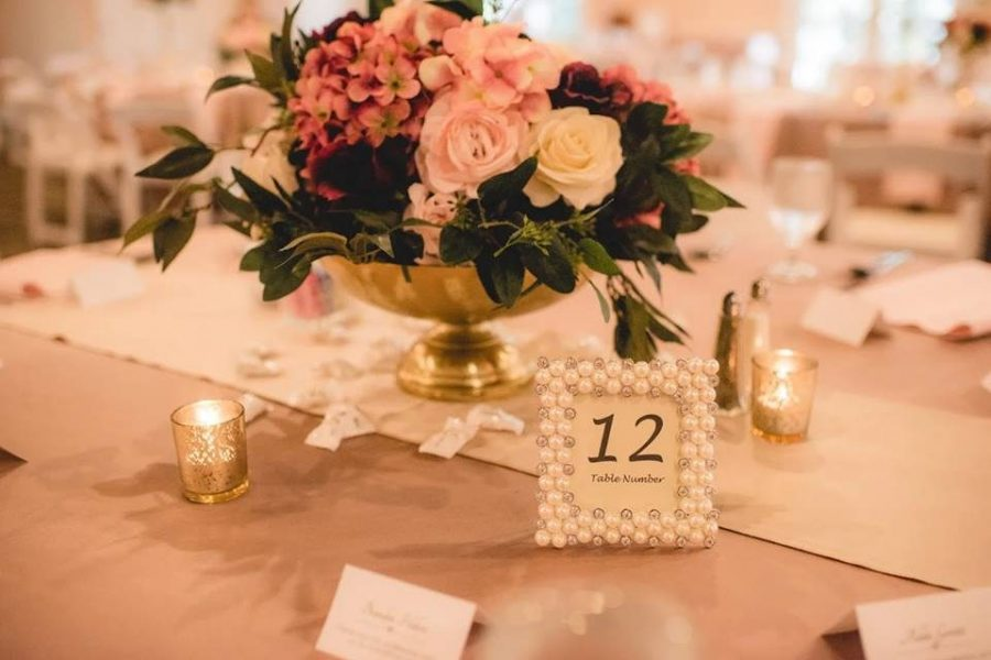 Centerpiece and framed table number