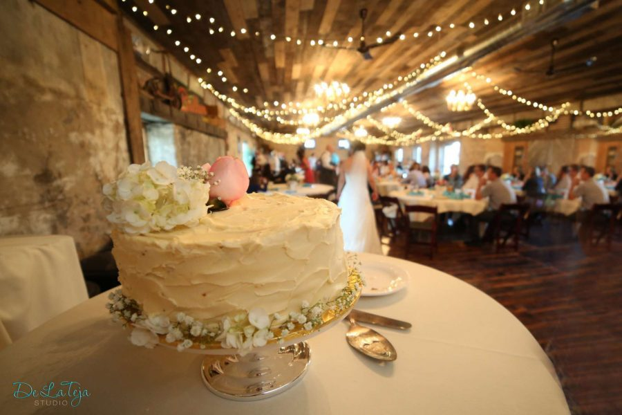 Wedding cake table at Carstens Mill