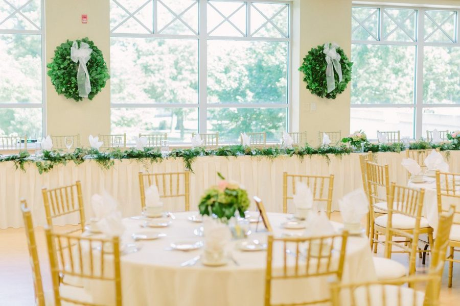 Wedding reception at The Bemis Conference Center & Michels Ballroom at St. Norbert College