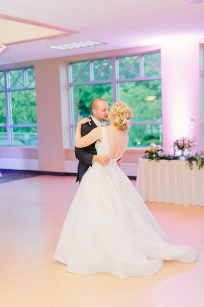 Bride and Groom first dance | The Bemis Conference Center & Michels Ballroom