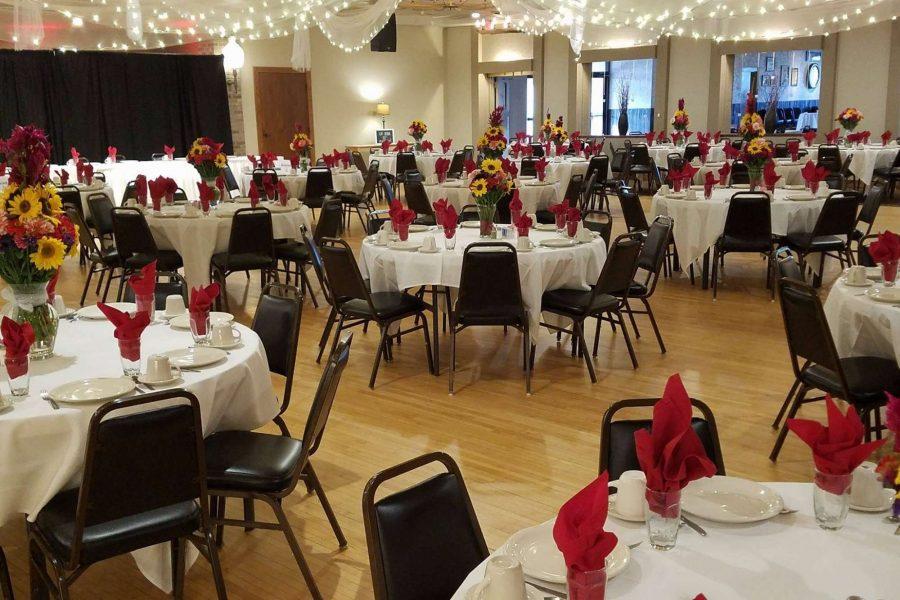 Wedding reception at Van Abel's