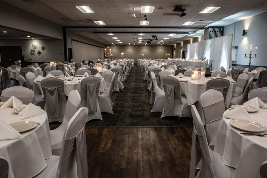 The newly remodeled Stadium View banquet hall is a beautiful venue for Green Bay Weddings
