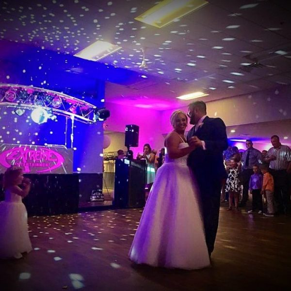 Bride and Groom dancing at Stadium View wedding reception