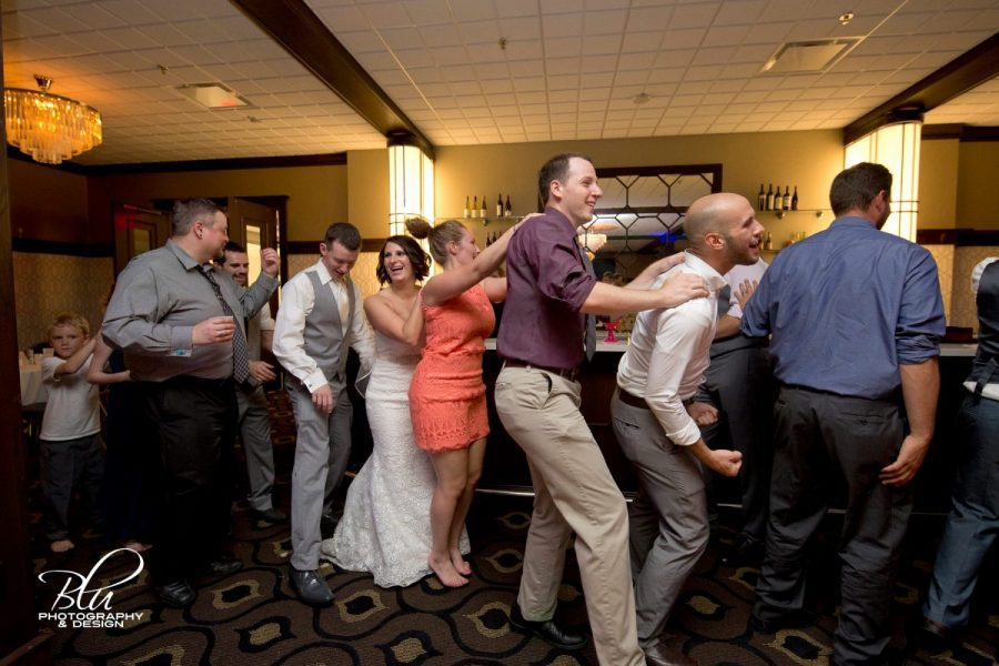 Record Entertainment | Conga line at wedding dance