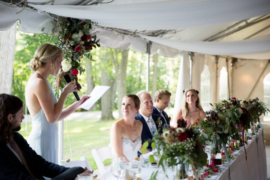 Tented wedding speech | Record Entertainment