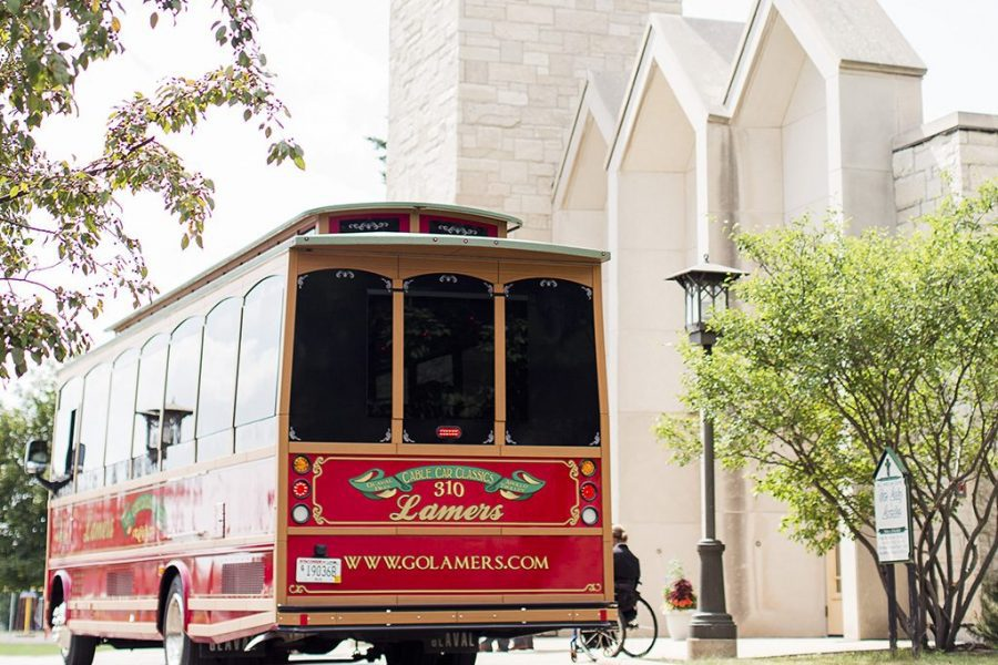 Red Trolley for your wedding day