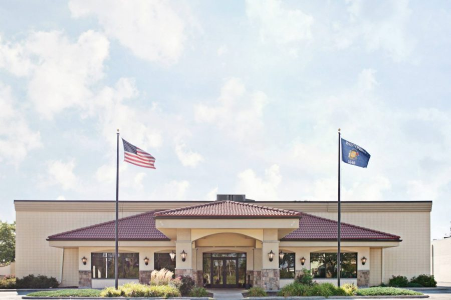 The exterior of the Grand Meridian in Appleton, WI