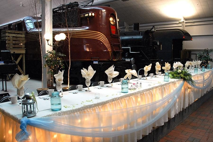 Head table at the National Railroad Museum in Green Bay, WI