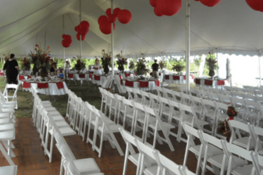 Tent and chair rentals Fox Cities