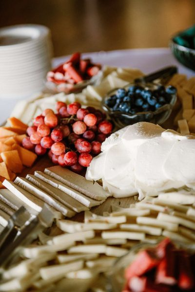 Cheese platter at the North Shore Golf Club