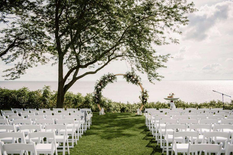 North Shore Golf Club wedding ceremony area