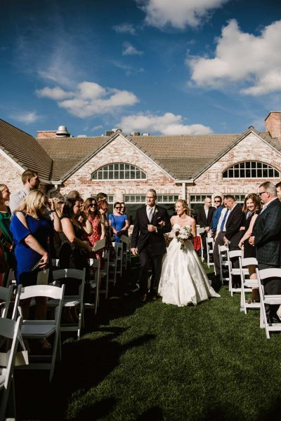 Bride and Groom just married at North Shore Golf Club