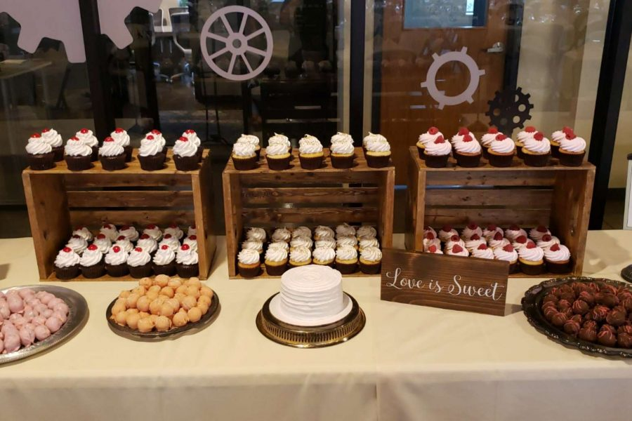 Love is sweet cupcake display by Cupcake Couture
