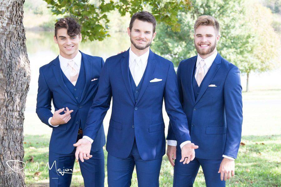 Men in blue suits