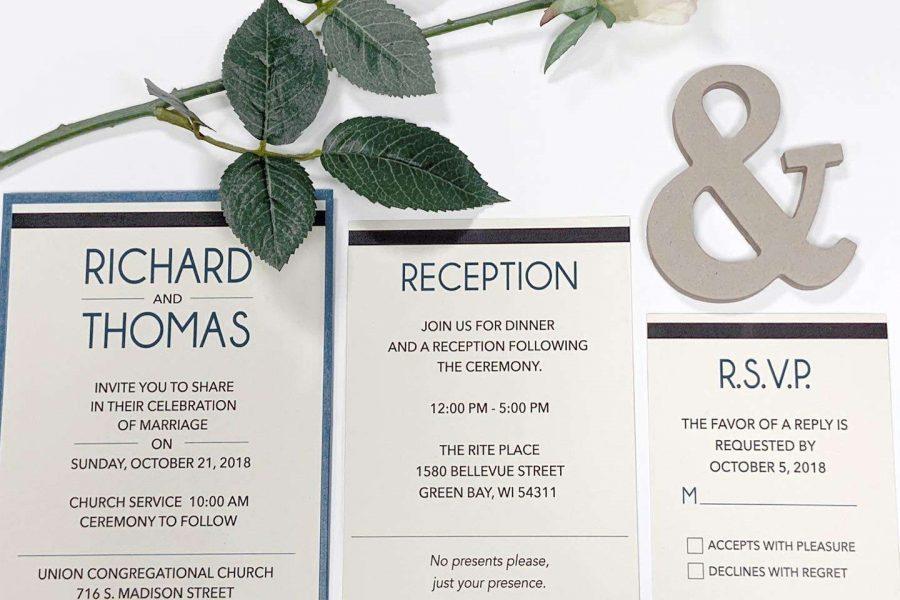 Pen Paper & Pixels wedding invitations - Green Bay, WI