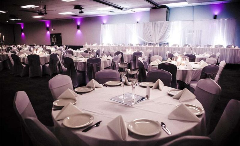 Wedding reception at the Stadium View Sports Bar, Grill & Banquet Hall