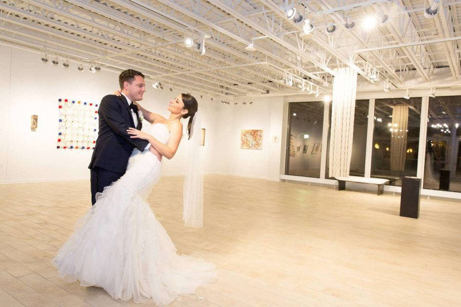 Bride and Groom dance at the Thelma Sadoff Center for the Arts | Fond du Lac, WI
