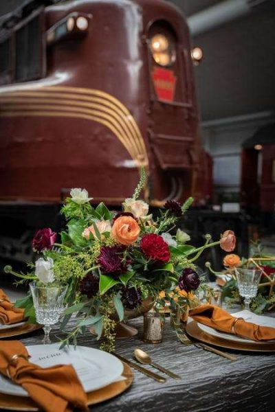 Elegant weddings at the National Railroad Museum in Green Bay, WI