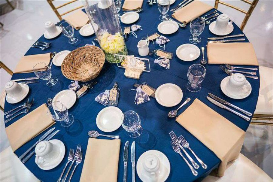 Elegant table-scape at a EAA Center wedding