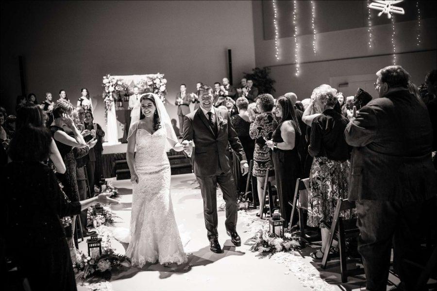 Wedding ceremony at the EAA Aviation Center in Oshkosh
