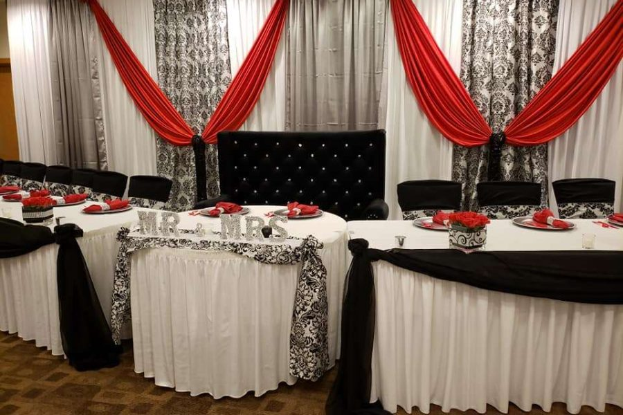 Elegant black, white and red wedding by Without a Hitch