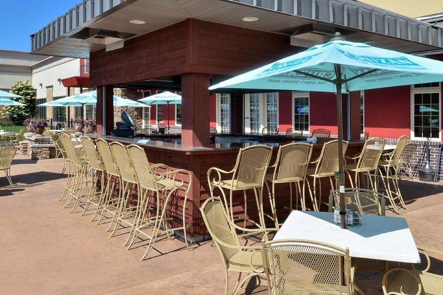 Outdoor bar area at the Holiday Inn Stevens Point, WI
