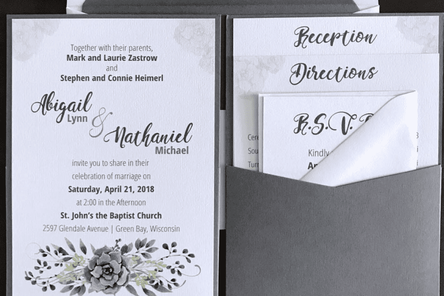 Wedding invitation created by Pen Paper & Pixels