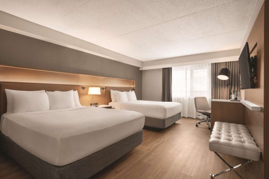 Double room at the newly remodeled Radisson Hotel and Conference Center in Green Bay