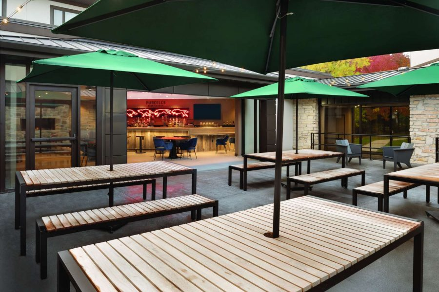 Purcell's Beer Garden at the Radisson Hotel and Conference Center in Green Bay