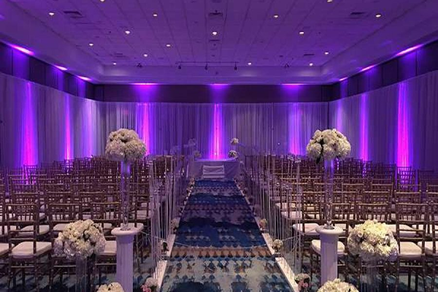 Wedding ceremony set-up at the Radisson Hotel and Conference Center in GB
