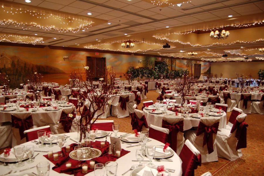 Romantic twinkling lights on ceiling - Stone Harbor Resort Wedding Reception