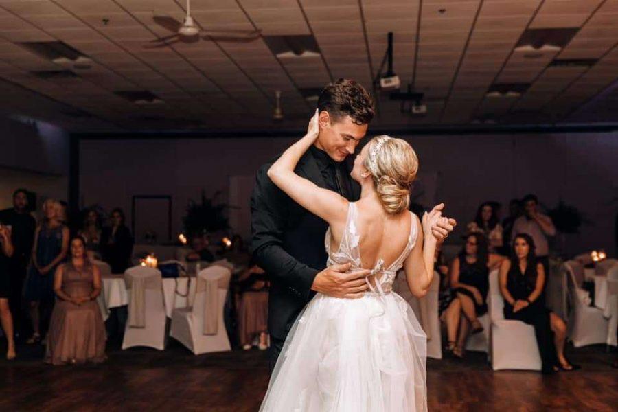 first dance at Stadium View Banquet Hall wedding