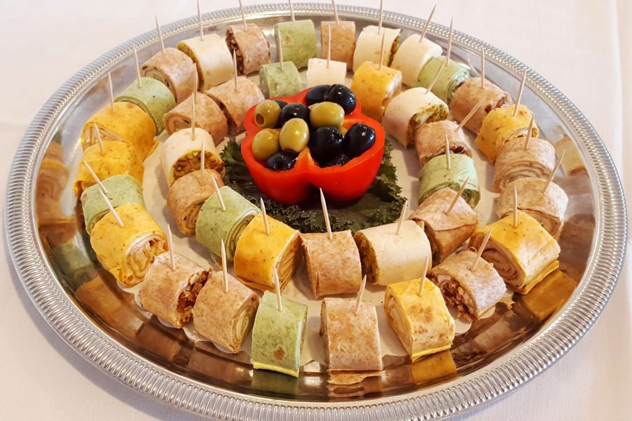 La Sure's Hall Banquet & Catering Appetizers- Cream Cheese Roll ups