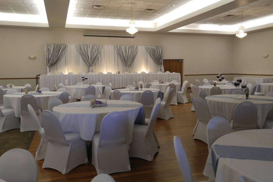 Elegant chic wedding at La Sure's Hall Banquet & Catering