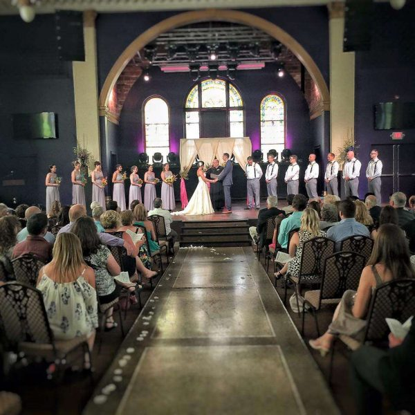 Wedding Ceremony at the Outer Edge in Appleton, WI