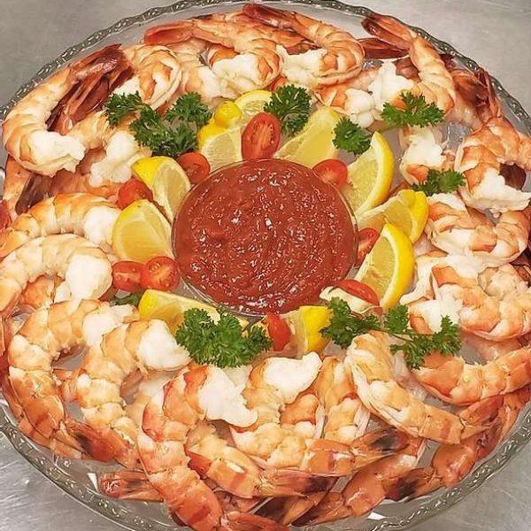 Par 4 Resort catering- Shrimp Cocktail platter
