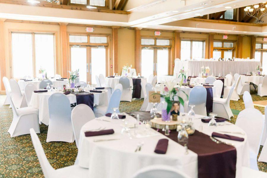 Elegant wedding reception at the Manor at Pinehurst Farms
